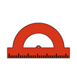 school protractor tool vector image