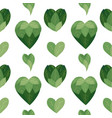 seamless flat pattern with bush hearts from vector image vector image