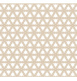 seamless geometric pattern in golden geometric vector image vector image