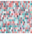 Seamless pattern of hexagons pink blue brown vector image