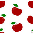 seamless pattern of red apples vector image