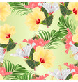 seamless texture tropical flowers various vector image