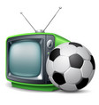 Soccer channel vector image