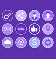 social network gears set vector image