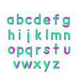 soft flexible neon 3d font vector image