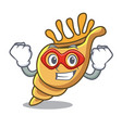 super hero exotic shell character cartoon vector image