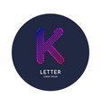 the letter k latin alphabet display vector image vector image