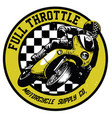 vintage motorcycle badge vector image vector image