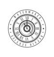 watchmaker repair service logo monochrome vintage vector image vector image