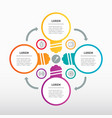 web template for circle diagram with stylized vector image vector image