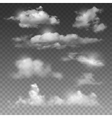 Clouds with sun set vector image
