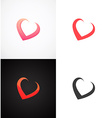 Concept Hearts on different backgrounds vector image
