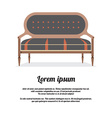 Modern Sofa Vintage Style vector image