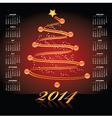 2014 Christmas Star Calendar vector image vector image