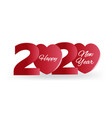 2020 happy new year banner heart vector image vector image