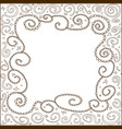 a hand drawn brown line frame in zentangle style vector image