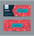 abstract gift voucher vector image