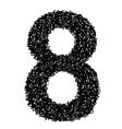 alphabet 8 vector image vector image