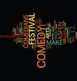 aspen nightlife us comedy arts festival text vector image vector image