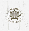 barrel of beer isolated vintage label vector image vector image