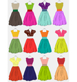 beautiful dress vector image