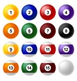 Billiard ball set vector image