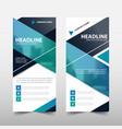 blue roll up business brochure flyer banner