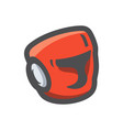 boxing helmet red icon cartoon vector image