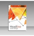 Brochure design triangle template vector image vector image