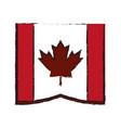 canadian cartoon flat draw vector image vector image
