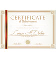 certificate or diploma template 3 vector image vector image