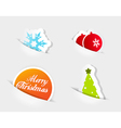 christmas colored symbols vector image vector image