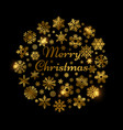 christmas shine effect decoration with gold vector image vector image