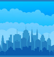 city silhouette modern concept vector image vector image