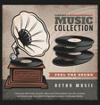 Colored retro gramophone poster