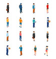 cool isometric people of different professions by vector image vector image