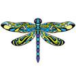 dragonfly mascot symbol vector image