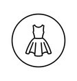 dress icon editable thin line vector image