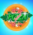 Emblem to the Pizza Festival vector image