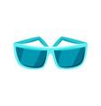 female blue sunglasses vector image vector image