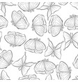 flight of the butterfly seamless pattern with vector image