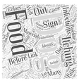 Food allergies Word Cloud Concept vector image vector image