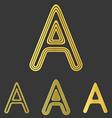 Golden line a logo design set vector image vector image