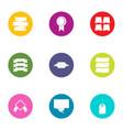 gonfalon icons set flat style vector image