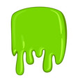 green slime icon decorative sticky paint blob vector image vector image
