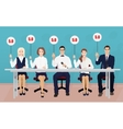 Group of professional Competition judges holding vector image vector image