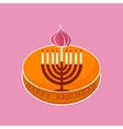 Hand sketched Happy Hanukkah logotype vector image vector image