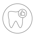 Healthy tooth line icon vector image vector image