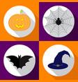 helloween icons set for vector image vector image