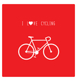 I love cycling vector image